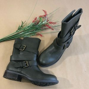 Rampage Army Green 2 Buckle Booties